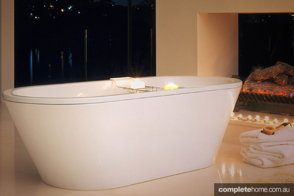 contemporary stand alone bath