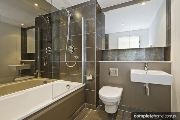 neutral toned bathroom creates a luxury feel - definitely the best place to chill out after a hard day at work!
