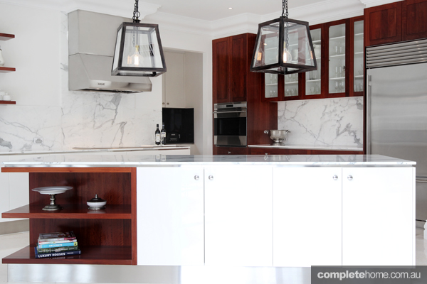 White and Red Oak timeless kitchen design