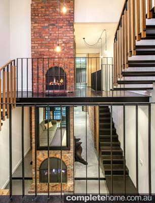 sculptured black staircase
