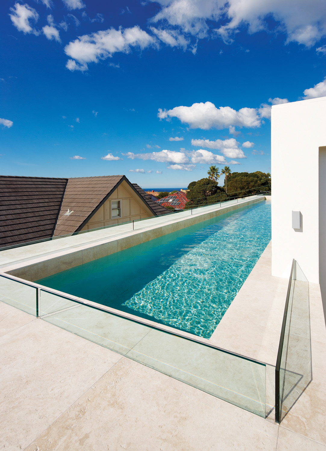 Rooftop lap pool with spectacular views