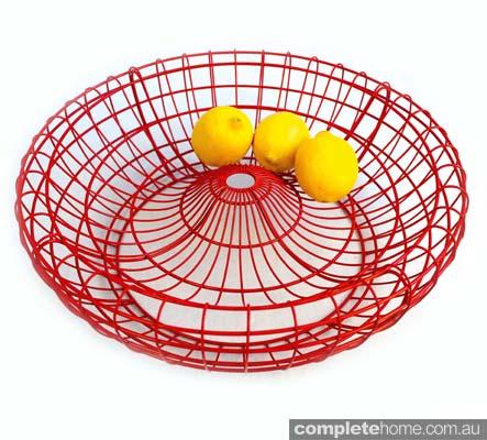 interior design profile woven fruit bowl