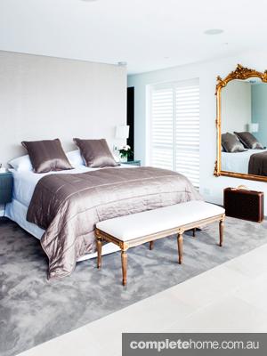 modern opulent bedroom
