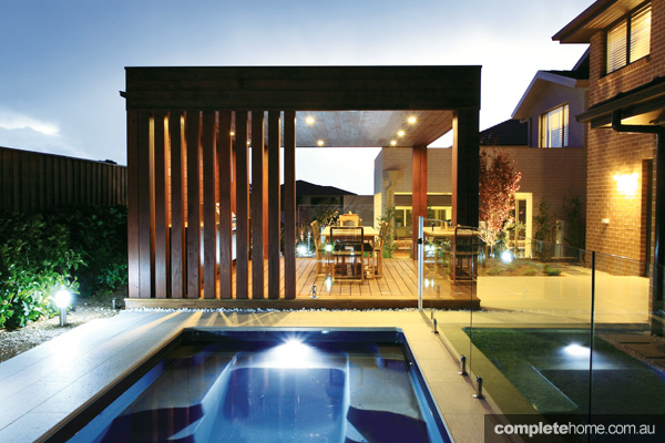 Japanese design concepts matched with local landscape architecture for a unique outdoor space
