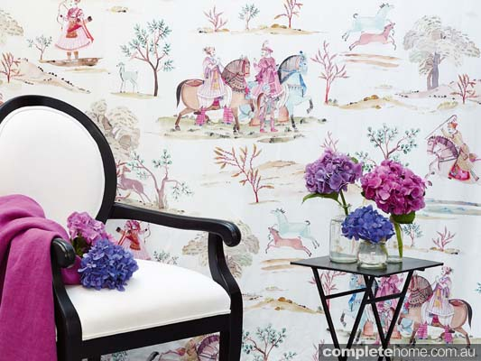 From padded walls, upholstered furniture, window dressings and bedding to cushions, lampshades and even ceilings, decorative textiles can create atmosphere and add a touch of luxury and whimsy.