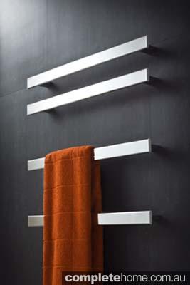 Fold Single Heated Towel Rails