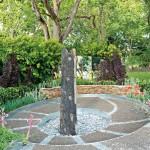 Low-maintenance metal garden edging