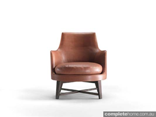 understated leather armchair