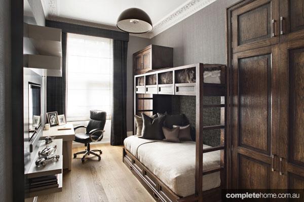 Elegant Loondon mansion apartment renovation - spare bedroom