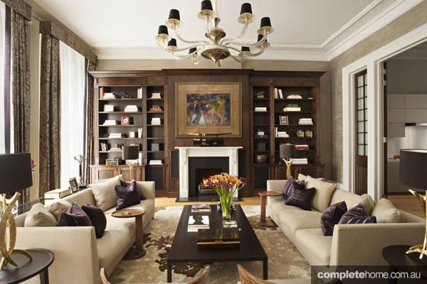Elegant Loondon mansion apartment renovation - interior living area