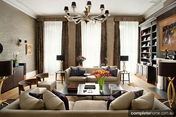 Elegant Loondon mansion apartment renovation - living area interior design