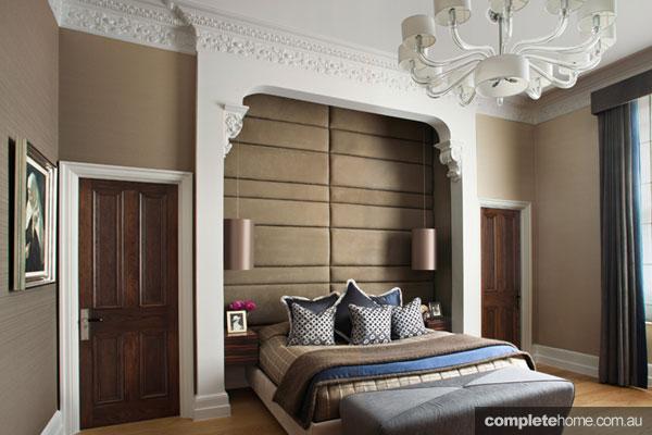 Elegant Loondon mansion apartment renovation - main bedroom design