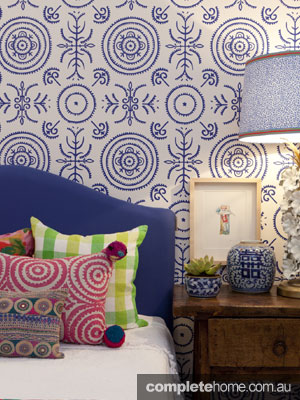 Mismatched prints - Anna Spiro's wallpaper