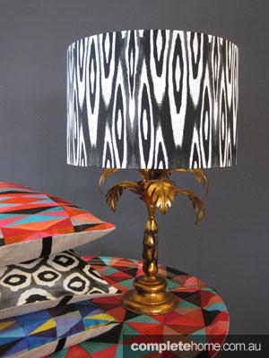 Mismatched prints - Mariska Meijers lampshade