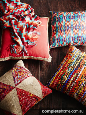 Mismatched prints - cushions
