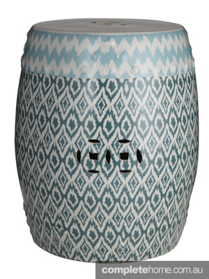 Mismatched prints - amalfi stool