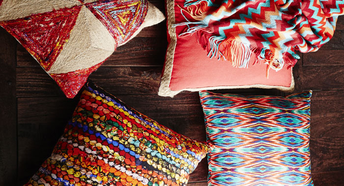 Mismatched prints - rapee cushions