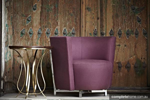 Zeynep Fadillioglu design - berry coloured couch