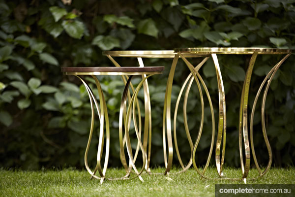 Zeynep Fadillioglu design - gold tables
