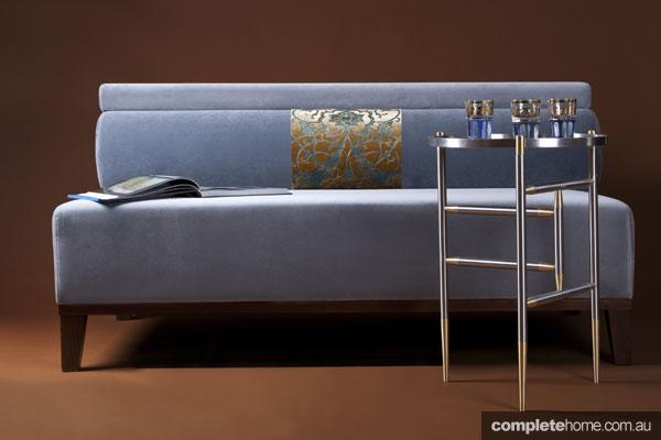 Zeynep Fadillioglu design - blue couch