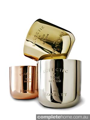 divine scented metallic candles
