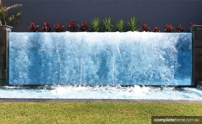 Family pool meets water feature