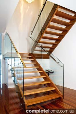 open plan modern staircase
