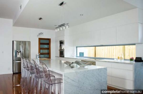 luxurious marble kitchen