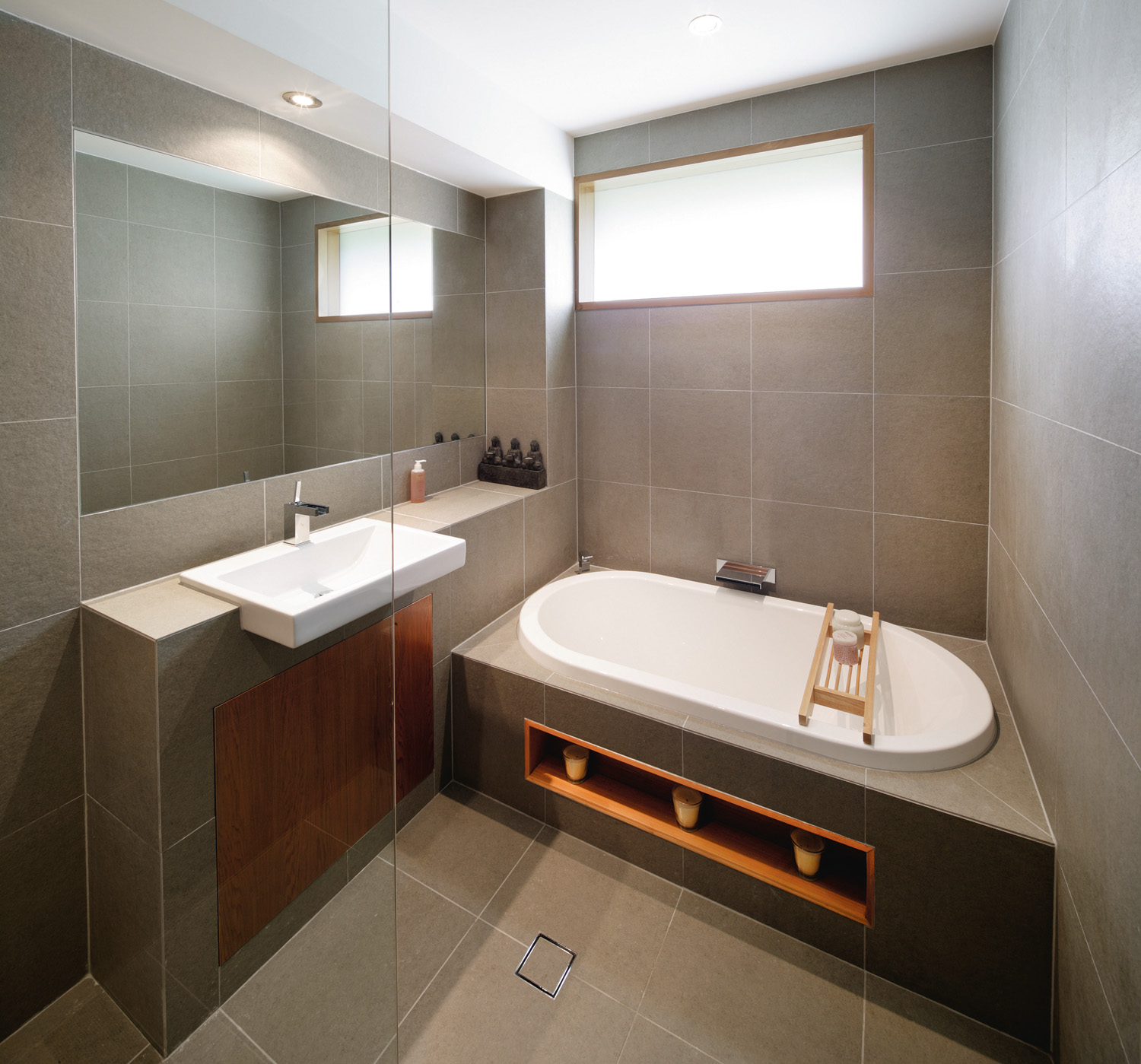 Contemporary bathroom renovation completehome for Modern bathroom renovations