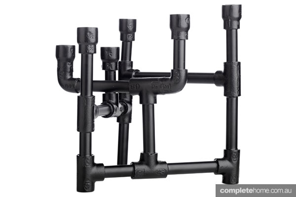 Boconcept industrial steel black candelabra