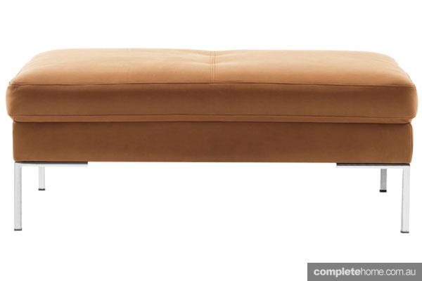 Boconcept caramel footstool interior decor
