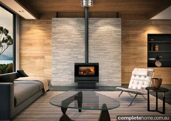 contemporary freestanding fireplace