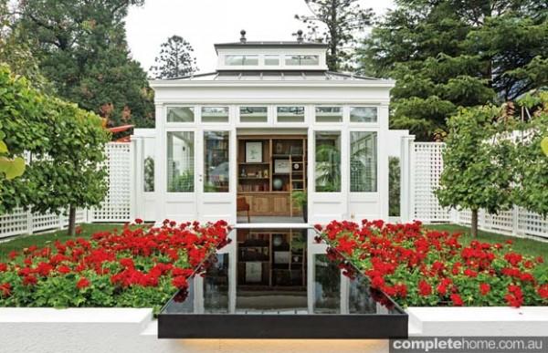 Library in a garden