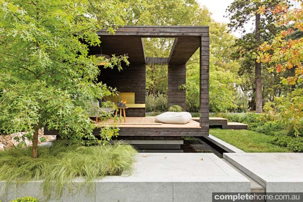 Outdoor garden design with muse