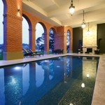 Roman-inspired pool design