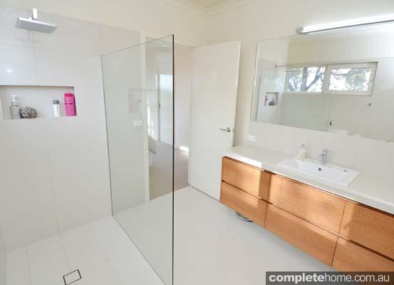 Bathroom with PVC framed double-glazed windows and doors