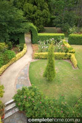 Garden in front of verandah