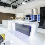 Slick and futuristic kitchen design