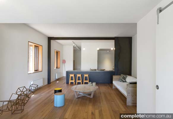 Living room with Hydronic heating