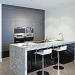 Black and white small kitchen design