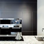 Black and white small kitchen design