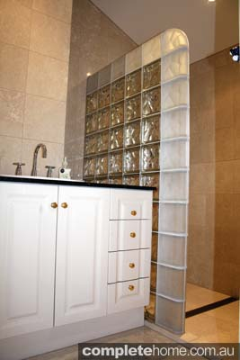 Glass blocks are a practical, beautiful feature for bathrooms, kitchens or any area that would benefit from natural light.