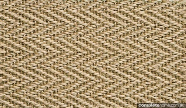 luxurious and textured sisal floorcovering