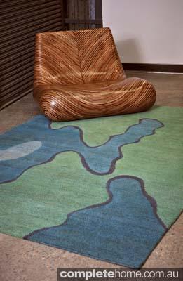 rug is hand-woven using hemp or wool