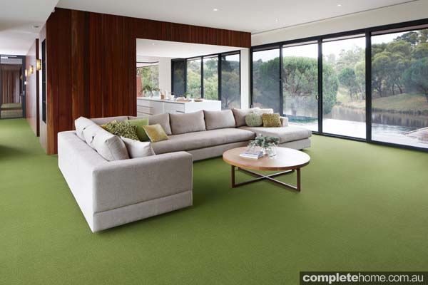 rug with heat and sound insulation