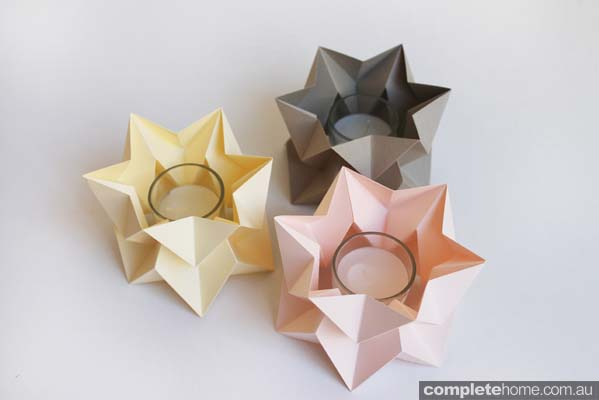 Origami tea lights