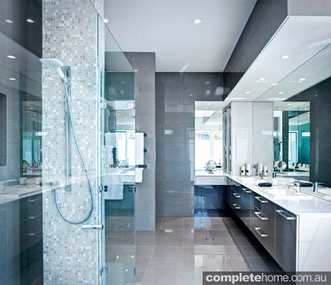 Large mirrors are perfect for reflecting light and space.