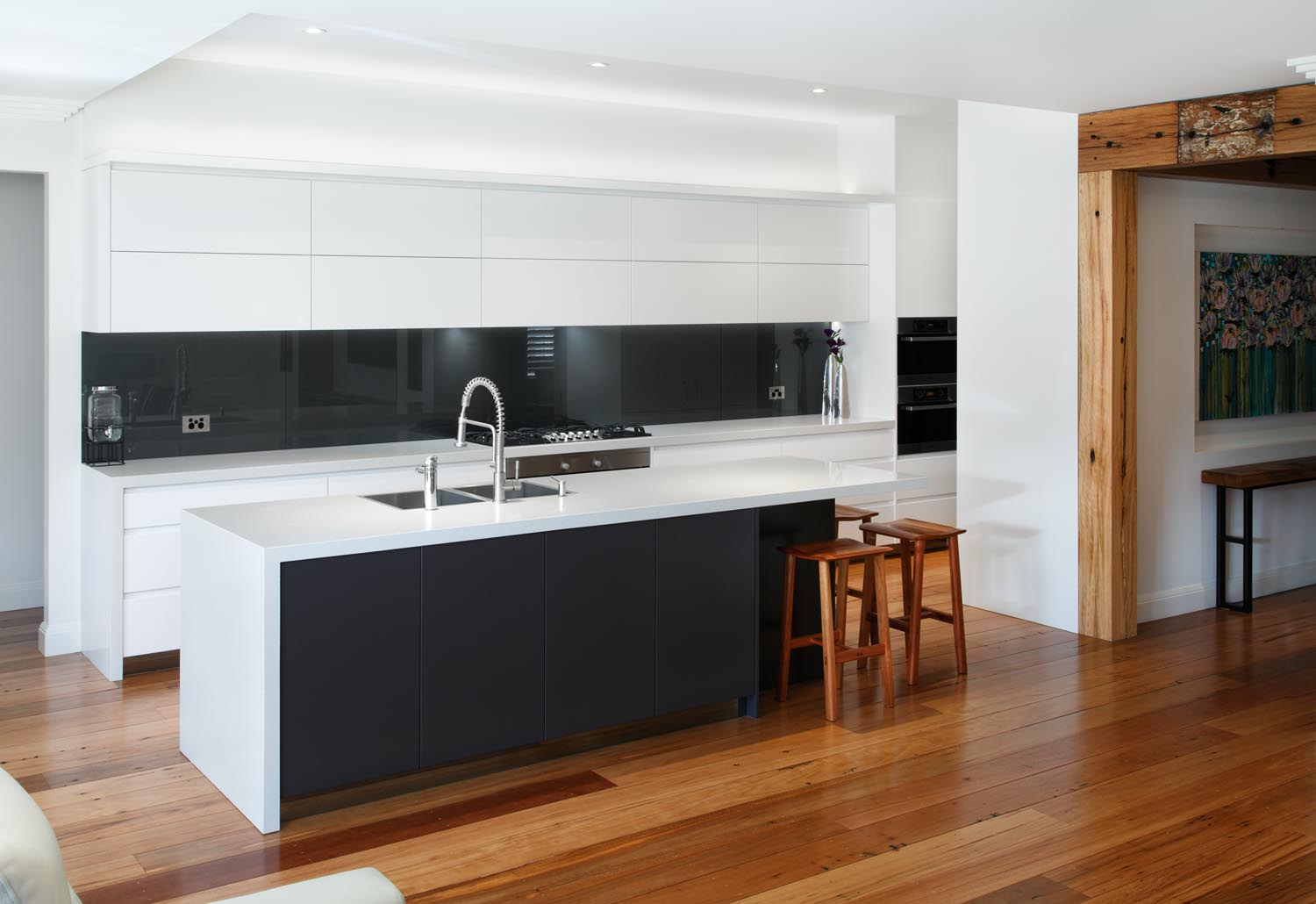 Black And White Contemporary Kitchen Completehome