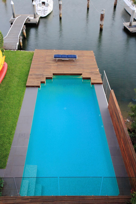 A simple pool next to a wharf