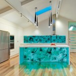 Vibrant, dramatic kitchen design